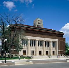 UofM Hill Auditorium Exterior Main Entra