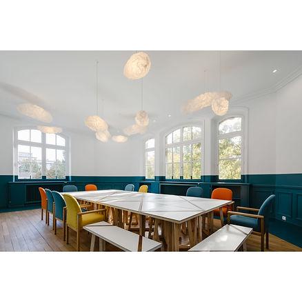 Table réunion bois Upcyclé La Maison des Canaux - Atelier Extramuros