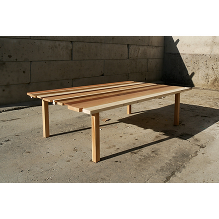 Table réunion bois Upcyclé Kardham - Atelier Extramuros