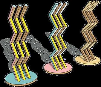 Ligne MEMPHIS - Porte manteaux bois design Upcyclé  - Atelier Extramuros