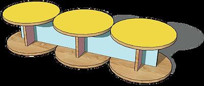Ligne MEMPHIS - Bancs bois design Upcyclé  - Atelier Extramuros