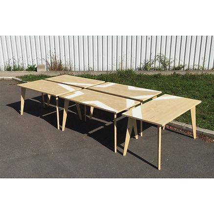 Table modulable bois Upcyclé Heineken - Atelier Extramuros