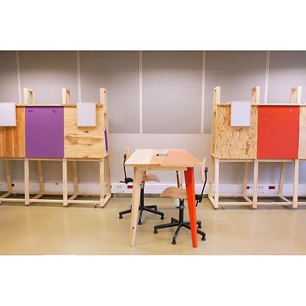 Bureaux bois Upcyclé Université Paris Diderot - Atelier Extramuros