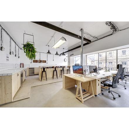 Bureaux aménagés bois design Upcyclé Sidièse - Atelier Extramuros