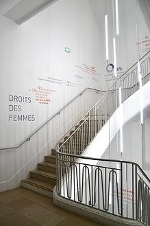 Modules espaces acceuil bois Upcyclé Fondation Goodplanet - Atelier Extramuros