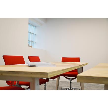 Table réunion bois Upcyclé Fondation Vinci - Atelier Extramuros