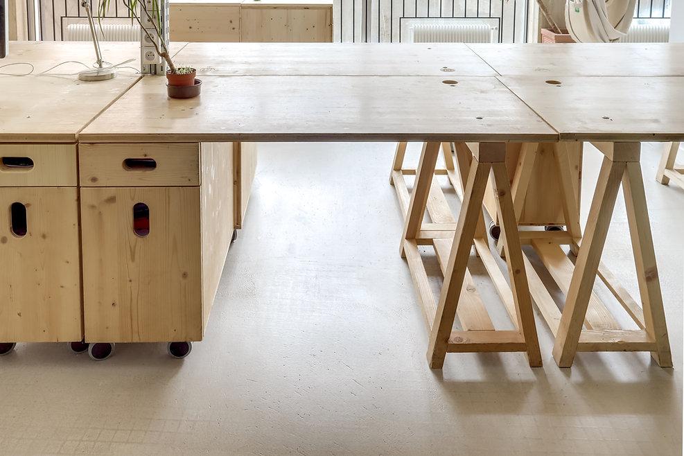 Poste travail bois Upcyclé Sidièse - Atelier Extramuros