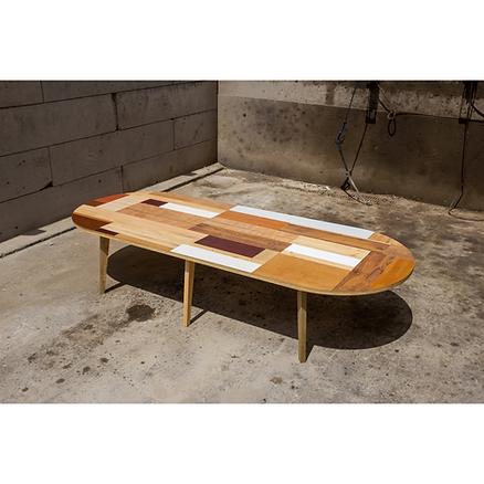 Table réunion bois design Upcyclé Veolia - Atelier Extramuros