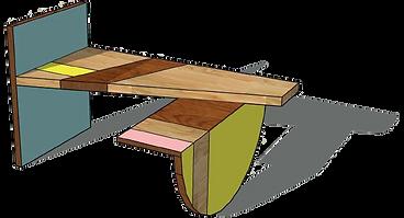 Ligne MEMPHIS - Bureau bois design Upcyclé  - Atelier Extramuros