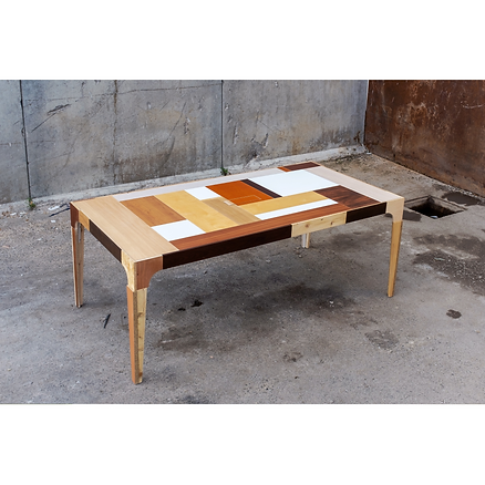 Table bois réunion design Upcyclé Total - Atelier Extramuros