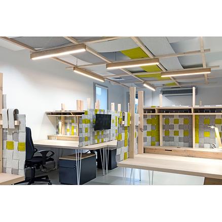 Bureaux bois Upcyclé CFDT - Atelier Extramuros