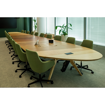 Table conseil mobilier bois Upcyclé Adecco - Atelier Extramuros