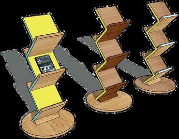 Ligne MEMPHIS - Porte documents bois design Upcyclé  - Atelier Extramuros