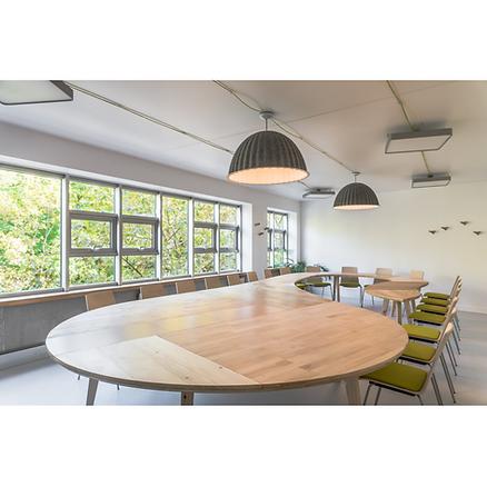 Table conseil réunion bois design CFDT - Atelier Extramuros