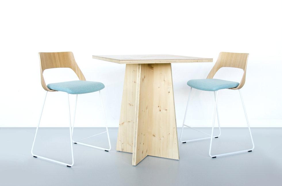 Showroom ligne mobilier bois Upcyclé Kinnarps - Atelier Extramuros