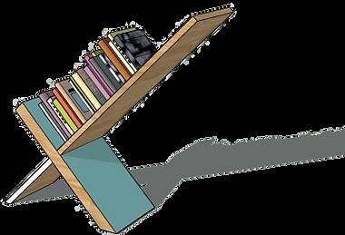 Ligne MEMPHIS - Bibliotèque bois design Upcyclé  - Atelier Extramuros