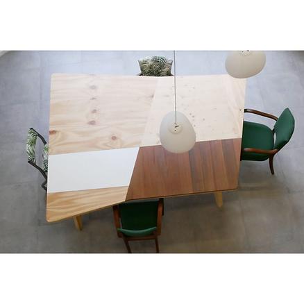 Table réunion bois Upcyclé Centre Jeunes Dirigeants - Atelier Extramuros