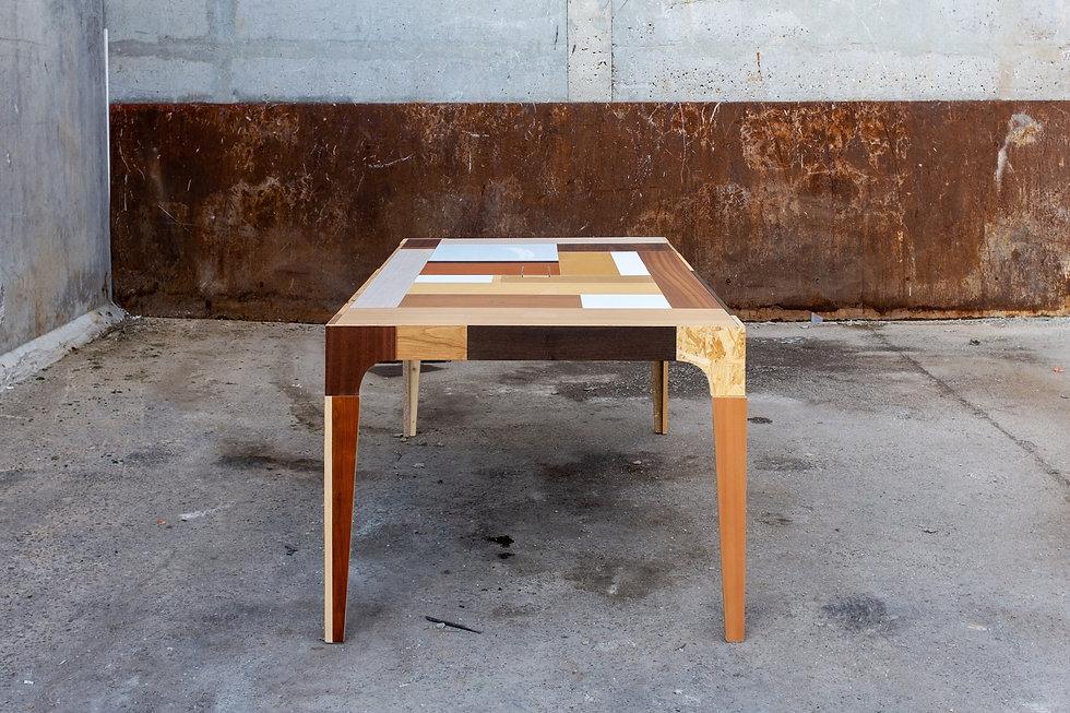 Table réunion bois design Upcyclé Total - Atelier Extramuros