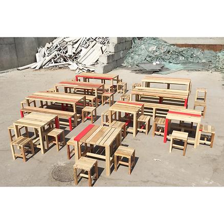 Bureaux bois Upcyclé Ecole des Gobelins - Atelier Extramuros