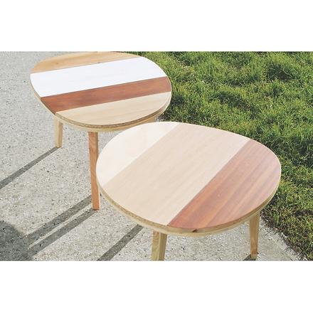 Tables basses bois design Upcyclé Quatorze - Atelier Extramuros