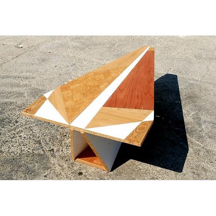 Table bois Upcyclé La Poste - Atelier Extramuros