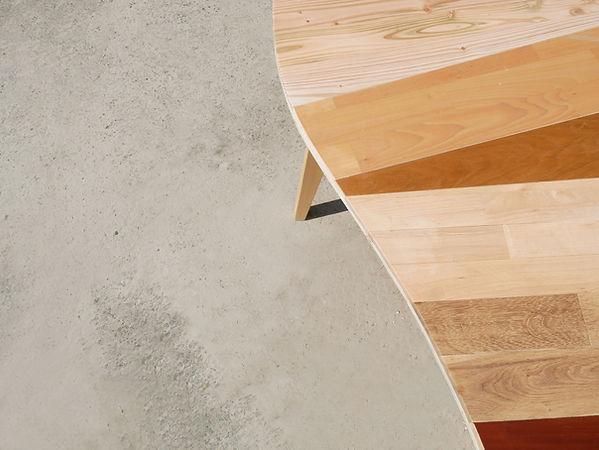 Table bois design Upcyclé Utopies - Atelier Extramuros