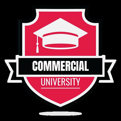 Commercial University Logo