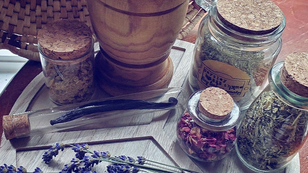 Wooden Peace Sign Herbal Set🌿
