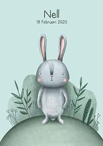 #geboortekaartjes #geboortekaartje #konijn #rabbit #plantjes #botanical #zomer #lente #schattig #lief #meisje #jongen #diertje #zwanger #babykaart #karenvandelaer
