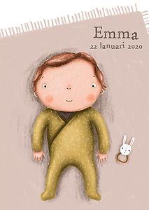 #geboortekaartje #birthcard #babykaart #baby #geboortekaartjeopmaat #babyopdeken #schattig #babymetkruippakje #dekentje #meisje #rammelaar #tekening #emma #babymeisje