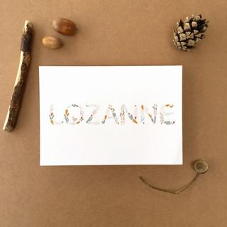 geboortekaartje Lozanne