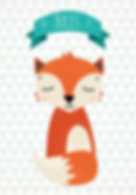 geboortekaartje fox dier geboortekaart newborn zwanger illustratie illustration birthannouncement kindjeopkomst karen vandelaer birthcard babycard ontwerp maatwerk geboortekaartje op maat 20 weken zwanger 20 weeks pregnant babykaart baby ontwerpen kaartje jules vos