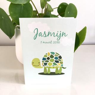 Jasmijn geboortekaartje