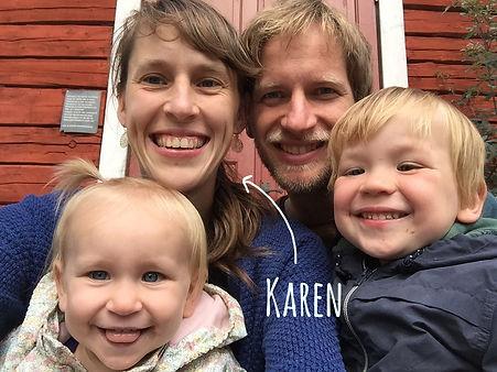 Karen Vandelaer en gezin