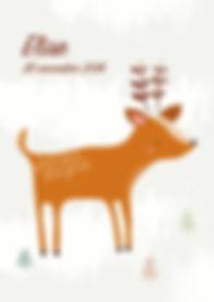 Geboortekaartje dier geboortekaart newborn zwanger illustratie illustration birthannouncement kindjeopkomst karen vandelaer birthcard babycard ontwerp maatwerk geboortekaartje op maat 20 weken zwanger 20 weeks pregnant babykaart baby ontwerpen kaartje elise hert dear