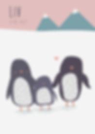 Geboortekaartje dier geboortekaart newborn zwanger illustratie illustration birthannouncement kindjeopkomst karen vandelaer birthcard babycard ontwerp maatwerk geboortekaartje op maat 20 weken zwanger 20 weeks pregnant babykaart baby ontwerpen kaartje liv pinguïn sneeuw winter koud