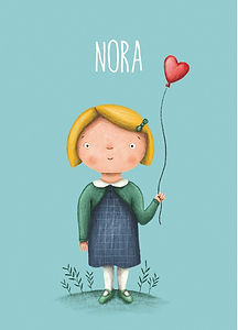 #geboortekaartje #nora #birthcard #babykaart #nora #meisje #illustratie #plantjes #ballon #girl #toddler #getekendgeboortekaartje #kindje