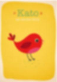 Geboortekaartje dier geboortekaart newborn zwanger illustratie illustration birthannouncement kindjeopkomst karen vandelaer birthcard babycard ontwerp maatwerk geboortekaartje op maat 20 weken zwanger 20 weeks pregnant babykaart baby ontwerpen kaartje kato cato vogel bird