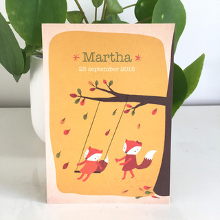 Martha geboortekaartje