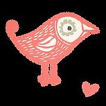 logo Karen Vandelaer vogel roze