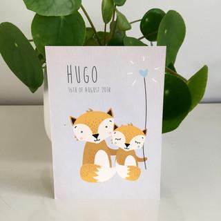 Hugo geboortekaartje