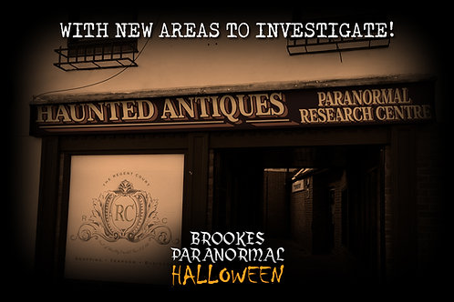 Haunted Antiques Museum Halloween Ghost Hunt - Saturday 30th October 2021