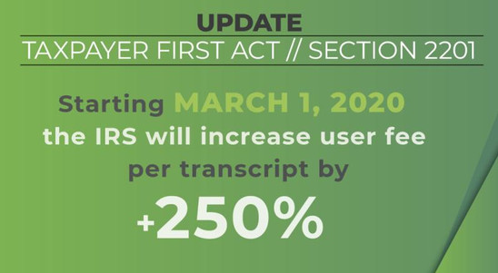 Year-End Update to Taxpayer First Act (HR 3151)