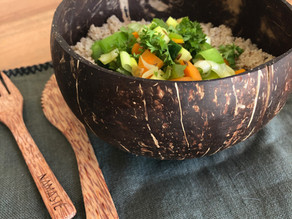 Légumes sautés au fonio