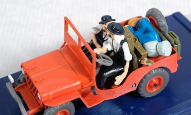 Coche jeep Tintin au Pays de l'Or noir ref. 2118007-Hergé-Moulinsart 2005
