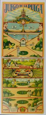 Tablero del juego de la Pulga años 20
