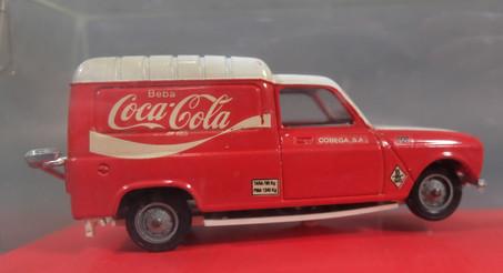 Coche Coca Cola Renault 4 escala 1/43 Solido Scale Carr