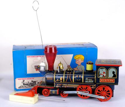 Radio remote control toy Radicon Locomotive Western special años 70