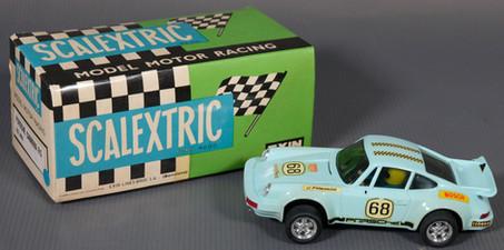 Coche Scalextric Exin Porsche Carrera R5 azul. Ref. 4051 años 70