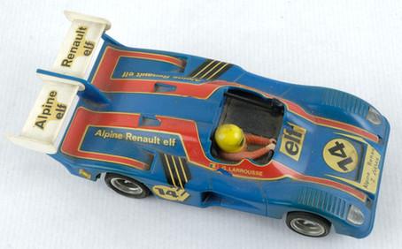Coche Scalextric Exin Alpine Renault 2000 Turbo azul Ref.4053 años 70